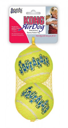 Kong Air Squeaker Ball L 2pk