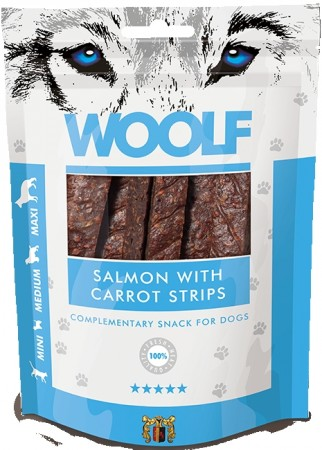 Woolf salmon with carrot strips
